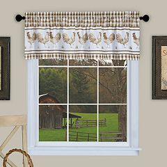 Achim Barnyard Rooster Plaid Window Valance