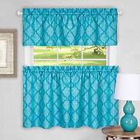 Achim Colby Trellis Tier & Valance Kitchen Curtain Set