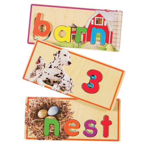 T.S. Shure Alphabet And Numbers Match 'N Learn Wooden Puzzle Cards