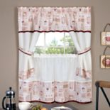 Achim Cappuccino Tier & Swag Valance Kitchen Curtain Set