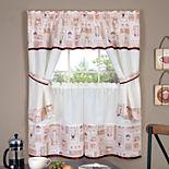 Achim Cappuccino Tier & Swag Valance Kitchen Curtain Set