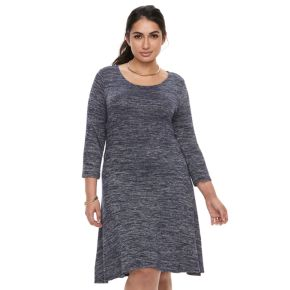 Plus Size Apt. 9® Knit Fit & Flare Dress