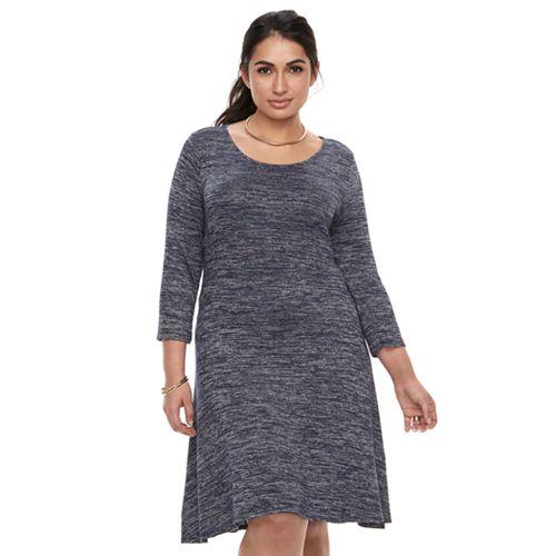 Plus Size Apt. 9® Knit Fit & Flare Dress