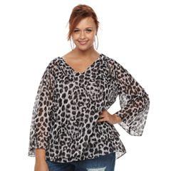 Plus Size Jennifer Lopez Sheer Top