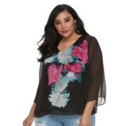 Plus Size Jennifer Lopez Sheer Top