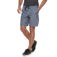 Men's Marc Anthony Slim-Fit Elastic-Waist Linen-Blend Shorts