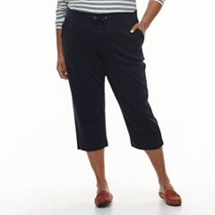 Plus Size Croft & Barrow® Classic Fit Knit Pull-On Capris