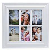 Melannco White Window Pane 6-Opening 4' x 6' Collage Frame