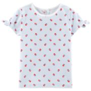 Toddler Girl OshKosh B'gosh® Striped Strawberry Print Top