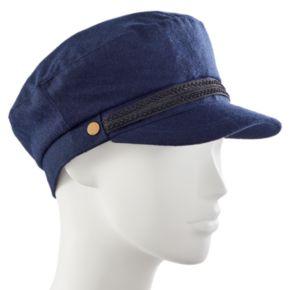 Women's Apt. 9® Braided Trim Wool Sailor Cadet Hat