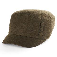 Women's Apt. 9® 3-Button Wool Cadet Hat