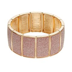 Plus Size Glitter Stretch Bracelet