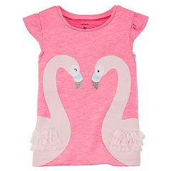 Baby Girl Carter's Flamingo Glitter Top
