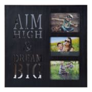 "Melannco ""Dream Big"" 3-Opening 4"" x 6"" Collage Frame"