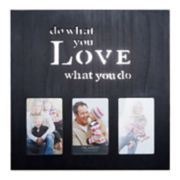 "Melannco Black ""What You Love"" 3-Opening 4"" x 6"" Collage Frame"