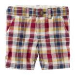 Boys 4-8 Carter's Plaid Twill Shorts