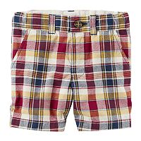 Boys 4-8 Carter's Plaid Twill Shorts
