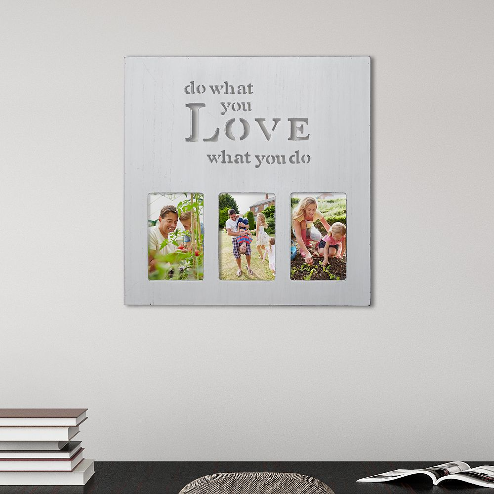 "Melannco White ""What You Love"" 3-Opening 4"" x 6"" Collage Frame"