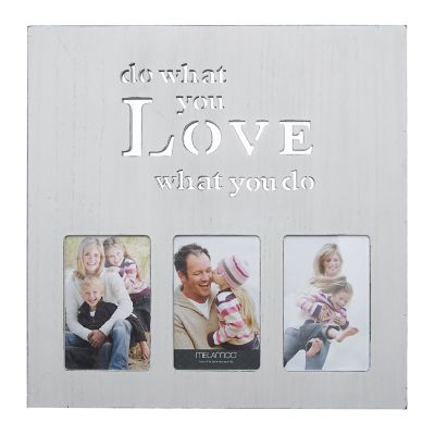 """Melannco White """"What You Love"""" 3-Opening 4"""" x 6"""" Collage Frame"""