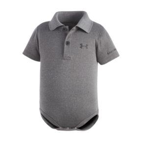 Baby Boy Under Armour Logo Polo Bodysuit