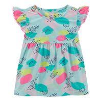 Baby Girl Jumping Beans Splatter Flutter Top