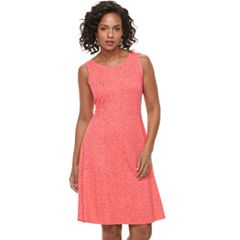 Women's Apt. 9® Printed Fit & Flare Dress