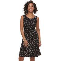 Women's Apt. 9® Printed Fit & Flare Dress