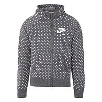 Girls 4-6x Nike Gray Polka-Dot Heathered Hooded Track Jacket