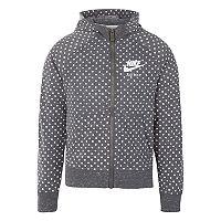 Girls 4-6x Nike Gray Polka-Dot Heathered Hooded Track Jacket