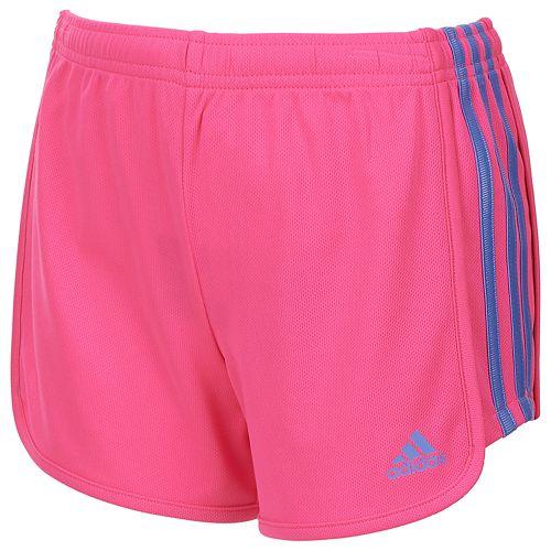 5685b109525 Girls 7-16 adidas Three Stripe Mesh Shorts