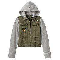Girls 7-16 Mudd® Knit Utility Jacket