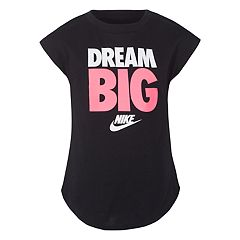 Girls 4-6x Nike 'Dream Big' Rounded Hem Tee