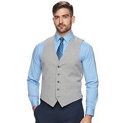Men's Apt. 9® Premier Flex Slim-Fit Light Gray Suit Vest