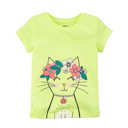 Baby Girl Carter's Cat Graphic Tee