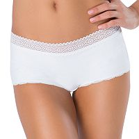 Juniors' SO® Lace Trim Boxy Boyshort Panty