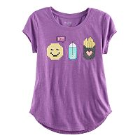 Girls Plus Size SO® Rolled Cuff Graphic Tee