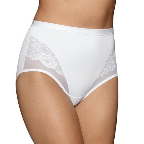 Vanity Fair Smoothing Comfort Mesh & Lace Brief Panty 13267