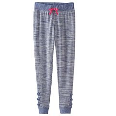 Girls 7-16 SO® Space-Dyed Lattice Hem Jogger Pants
