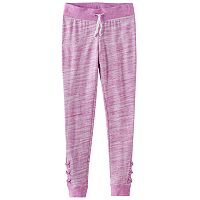 Girls Plus Size SO® Space-Dyed Lattice Hem Jogger Pants