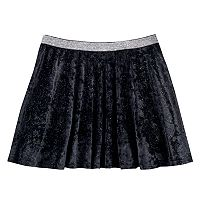 Girls 7-16 SO® Metallic Crushed Velvet Circle Skirt