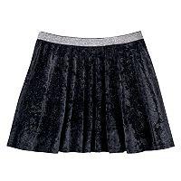 Girls 7-16 SO® Metallic Crushed Velvet Circle Skirt