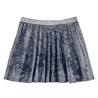 Girls Plus Size SO® Metallic Crushed Velvet Circle Skirt