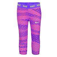 Girls 4-6x Nike Dri-FIT Geometric Print Capri Leggings