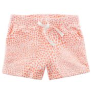 Baby Girl Carter's Heart French Terry Shorts