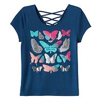 Girls Plus Size Mudd® Criss-Cross Lattice Back Tee