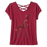 Girls Plus Size Mudd® Criss-Cross Lattice Back Tee
