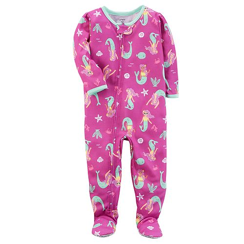 1285c99f2 Baby Girl Carter's Mermaid Print Footed Pajamas
