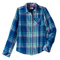 Girls 7-16 SO® Shine Plaid Button-Down Shirt