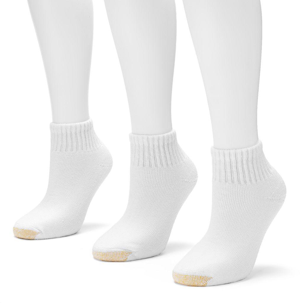 GOLDTOE® 3-pk. Ultra Tec Quarter Socks