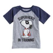 "Toddler Boy Jumping Beans® Peanuts Snoopy ""Superhero In Training"" Raglan Tee"
